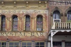 Virginia City Nevada Main Street. Historic buildings details in Virginia City Nevada Royalty Free Stock Photos