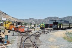 Virginia City railroad stock photos