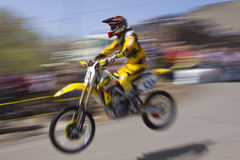 Virginia City Suzuki Rider Stock Image