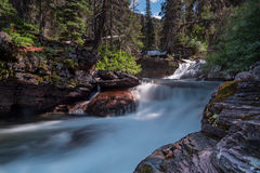 Virginia Creek Cascades Long Exposure Stock Image
