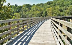 Virginia Creeper Trail. Holston Trestle is just one of 47 trestle bridges crossed by bike riders, hikers and horseback riders along the Virginia Creeper Trail royalty free stock photography