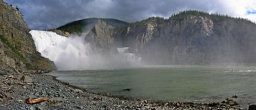 Virginia Falls. On the South Nahanni, Northwest Territories, Canada Royalty Free Stock Photo