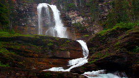 Virginia Falls Glacier National Park Royaltyfria Foton