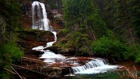 Virginia Falls Glacier National Park stock video footage