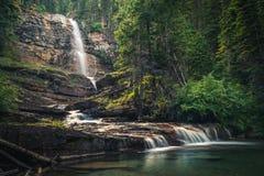 Virginia Falls, Glacier National Park, Montana, USA stock photo