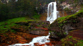 Virginia Falls in Montana stock video footage