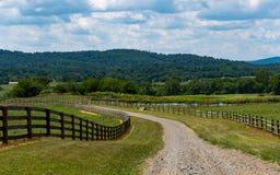 Virginia farm and Vineyard Land Royalty Free Stock Photography