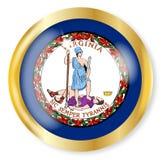 Virginia Flag Button Immagine Stock Libera da Diritti