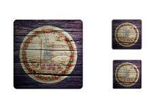 Virginia flag Buttons Stock Photos