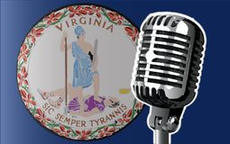 Virginia Flag And Microphone Background Images libres de droits