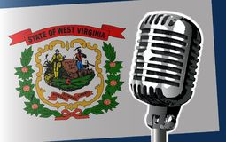 Virginia Flag And Microphone Background occidentale Image libre de droits