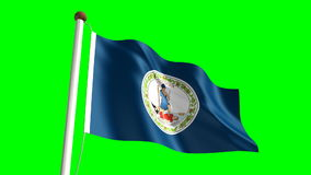 Virginia flag Royalty Free Stock Photos