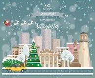 Virginia, glad jul och ett lyckligt nytt år! Royaltyfri Foto