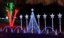 Virginia Holiday Festival das luzes fotos de stock