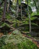 Virginia Kendall Ledges Cuyahoga Valley National parkerar Royaltyfri Foto