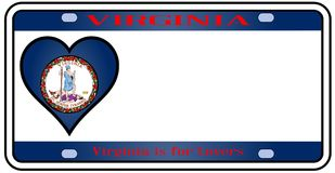 Virginia License Plate illustration stock