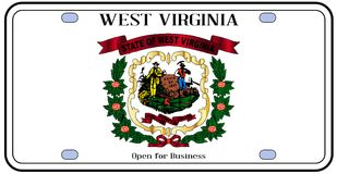Virginia License Plate Flag occidentale illustration libre de droits