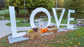 Virginia Love Sign Slogan imágenes de archivo libres de regalías
