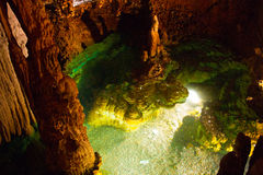Virginia Luray Caverns som väl önskar Arkivfoton