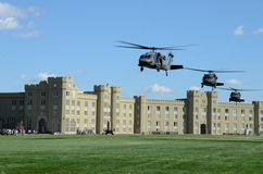 Virginia Military Institute. Helicopter training at Virginia Military Institute Stock Photo