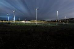 Virginia Motor Speedway ad ovest abbandonata - pozzi minerali, Virginia Occidentale fotografie stock libere da diritti