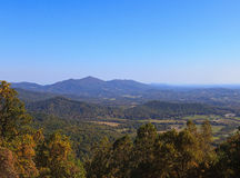 Virginia Mountains. The mountains in Virginia from the Blue Ridge Parkway in the fall royalty free stock photos