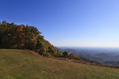 Virginia Mountains Landscape. The mountains in Virginia from the Blue Ridge Parkway in the fall stock photography