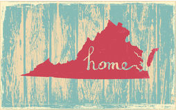 Virginia nostalgic rustic vintage state vector sign Stock Photography