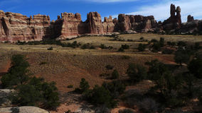 Virginia Park Canyonlands. Panorama of Virginia Park located in the Needles district of Canyonlands National Park near Moab, Utah Stock Image