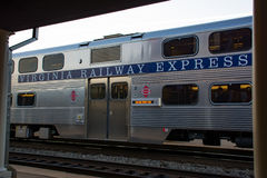 Virginia Railway Express commuter train Royalty Free Stock Photography