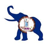 Virginia Republican Elephant Flag Fotografía de archivo libre de regalías