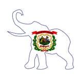 Virginia Republican Elephant Flag ad ovest Fotografia Stock Libera da Diritti