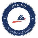 Virginia runt patriotiskt emblem royaltyfri illustrationer