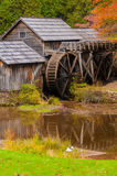 Virginia's Mabry Mill on the Blue Ridge Parkway in the Autumn se Royalty Free Stock Image