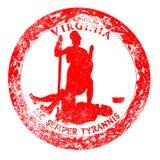 Virginia Seal Rubber Stamp Photographie stock libre de droits