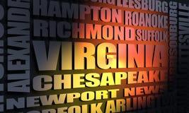 Virginia-Stadtliste Stockfoto