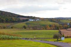 Virginia stanu kraju strona przy zmierzchem Obraz Royalty Free