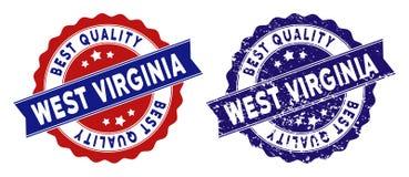 Virginia State Best Quality Stamp ad ovest con effetto graffiato Fotografia Stock Libera da Diritti