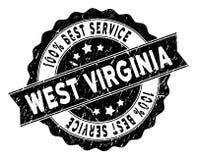 Virginia State Best Service Stamp ad ovest con struttura della polvere Fotografie Stock