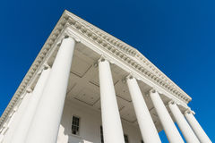 Virginia state capitol portico with collumns Royalty Free Stock Images