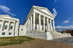 Virginia State Capitol - Richmond, Virginia. The Virginia State Capitol, designed by Thomas Jefferson who was inspired by Greek and Roman Architecture in royalty free stock photos