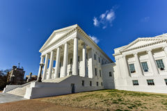 Virginia State Capitol - Richmond, Virginia. The Virginia State Capitol, designed by Thomas Jefferson who was inspired by Greek and Roman Architecture in stock image