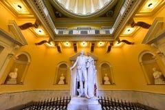 Virginia State Capitol - Richmond, Virginia. Richmond, Virginia - Feb 19, 2017: Monument to George Washington in the rotunda in the Virginia State Capitol in royalty free stock photo