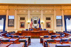 Virginia State Capitol - Richmond, Virginia. Richmond, Virginia - February 19, 2017: House of Representatives chamber in the Virginia State Capitol in Richmond royalty free stock photography