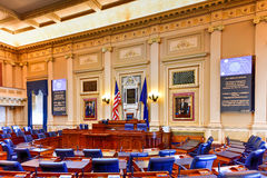 Virginia State Capitol - Richmond, Virginia. Richmond, Virginia - February 19, 2017: House of Representatives chamber in the Virginia State Capitol in Richmond Stock Photos
