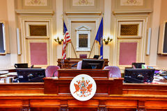 Virginia State Capitol - Richmond, Virginia. Richmond, Virginia - February 19, 2017: Old House Chamber in the Virginia State Capitol in Richmond, Virginia Royalty Free Stock Photo