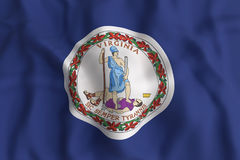 Virginia State flag Stock Image