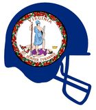 Virginia State Flag Football Helmet Fotos de archivo