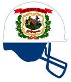 Virginia State Flag Football Helmet del oeste Fotos de archivo libres de regalías