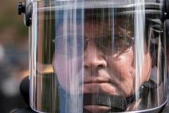Virginia State Police Riot Squad mit Gesichts-Schild stockbild